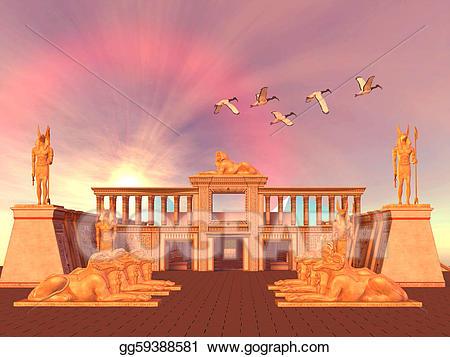 Stock illustration egyptian kingdom. Palace clipart palace egypt