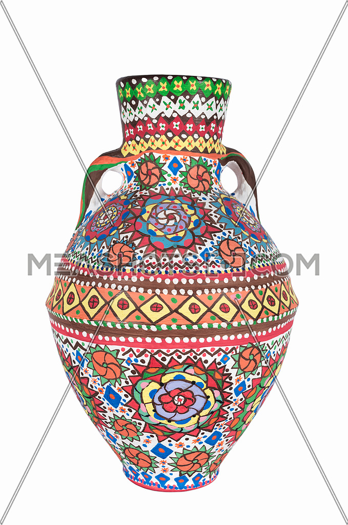 Egyptian clipart vase. An decorated colorful pottery