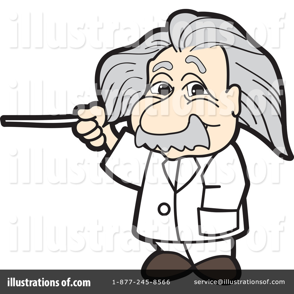 Einstein clipart. Illustration by toons biz