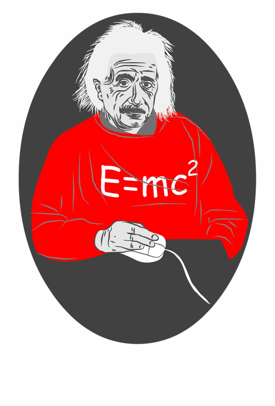 Einstein clipart abstract. Albert mouse white hair
