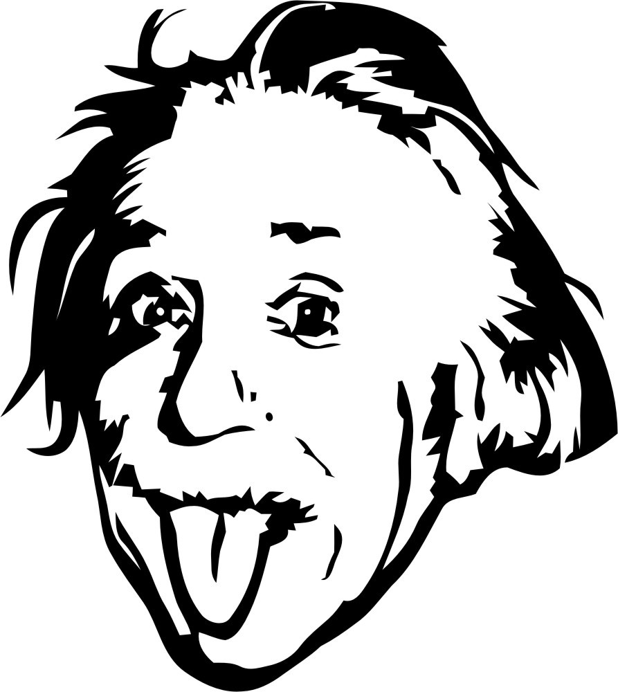 Einstein clipart abstract. Albert silhouette scalable vector