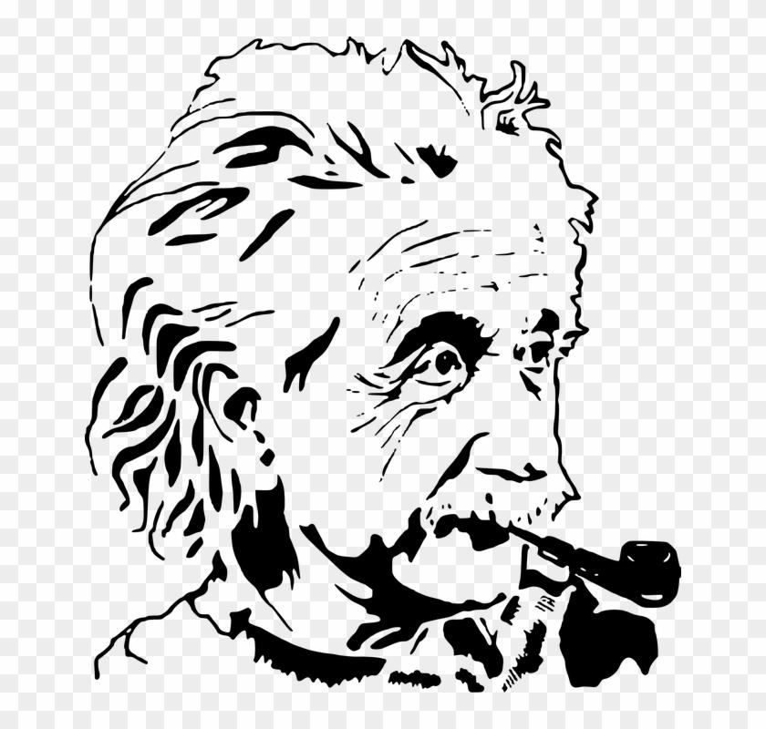 Einstein clipart black and white. Albert scientist physical