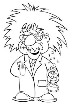 Albert clip art library. Einstein clipart coloring page
