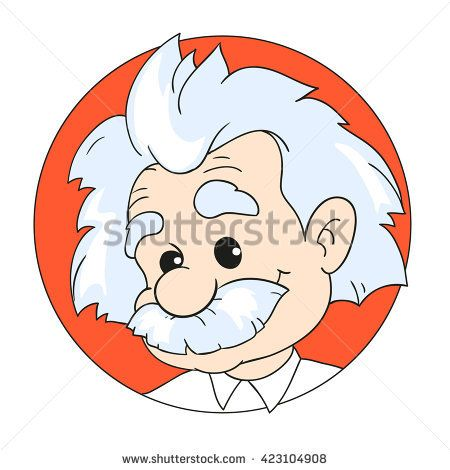 Einstein clipart doodle. May a vector illustration