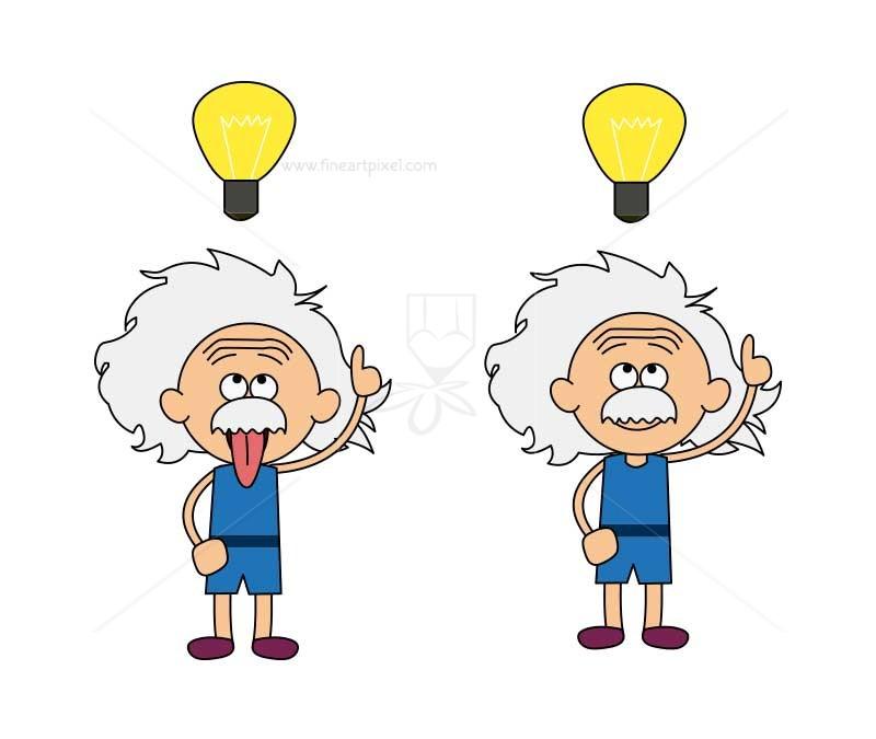 Einstein clipart doodle. Cartoon clip art free
