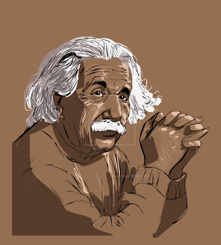 Albert free vectors illustrations. Einstein clipart doodle