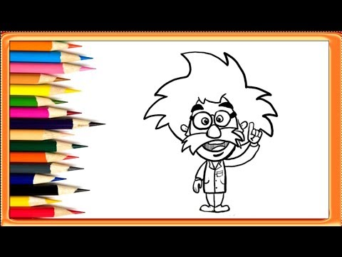 How to draw albert. Einstein clipart easy