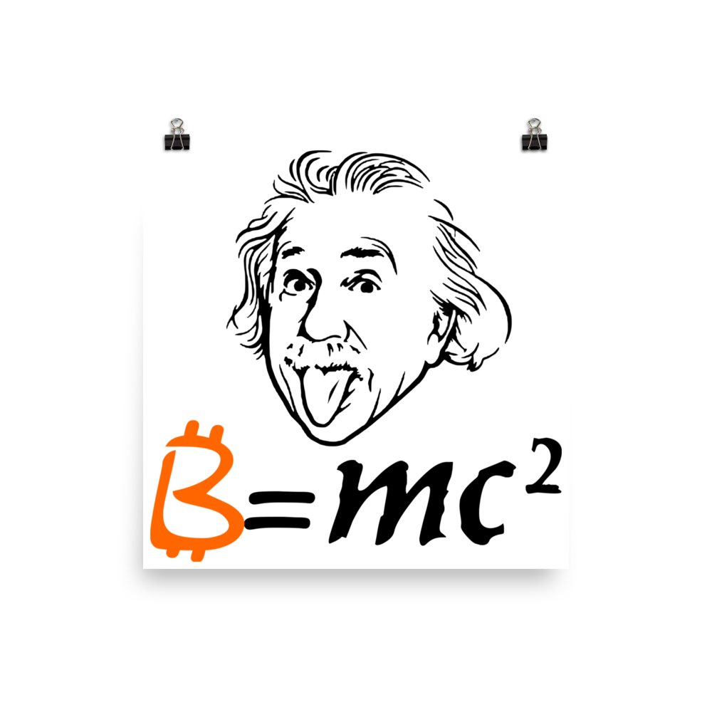 Einstein clipart easy. Bitcoin photo paper poster