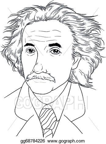 Einstein clipart easy. Vector albert illustration