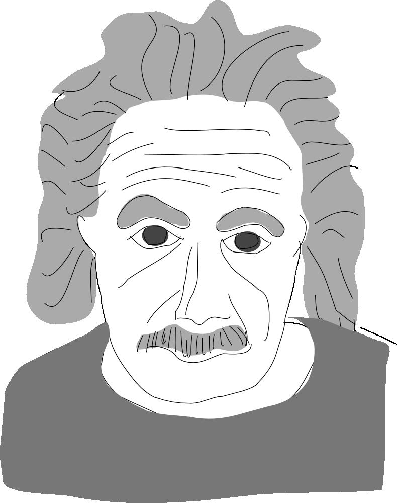 Einstein clipart easy. Onlinelabels clip art