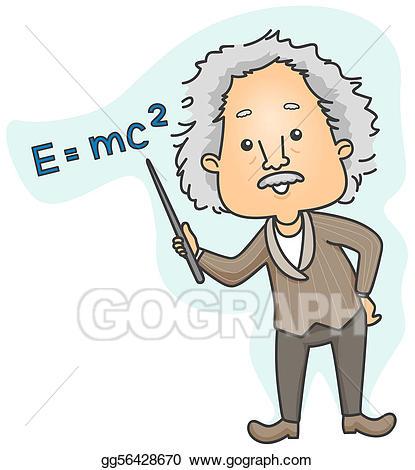 Einstein clipart education. Albert stock illustration gg