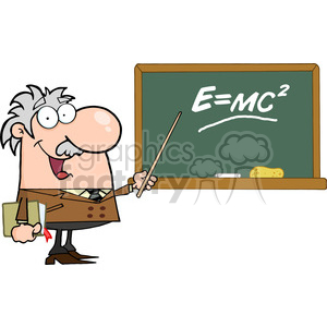 rf illustration professor. Einstein clipart emc2
