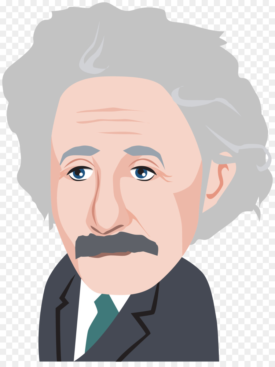 Einstein clipart face. Albert cartoon physics scientist