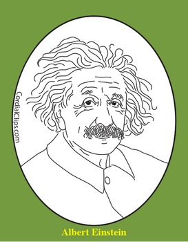 Einstein clipart famous person. Albert clip art coloring