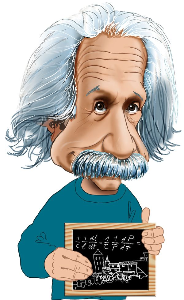 Caricatures gallery karikaturtegning af. Einstein clipart famous person