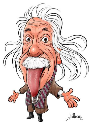 Albert by william medeiros. Einstein clipart famous person
