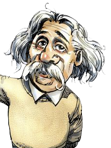 More on s theory. Einstein clipart famous person