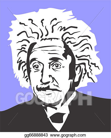 Einstein clipart famous scientist. Vector albert illustration
