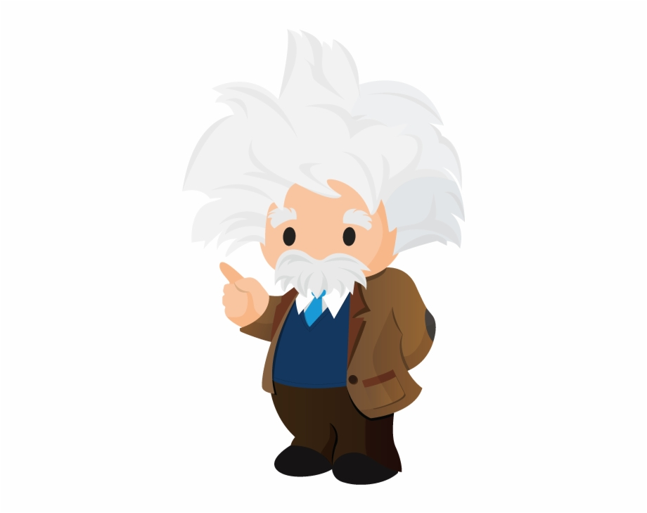 Cartoon png salesforce logo. Einstein clipart graphic