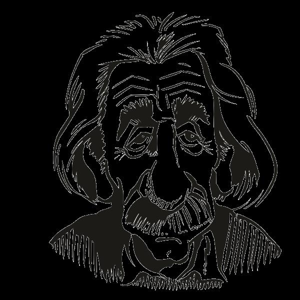 Naklejka welurowa albert znane. Einstein clipart head