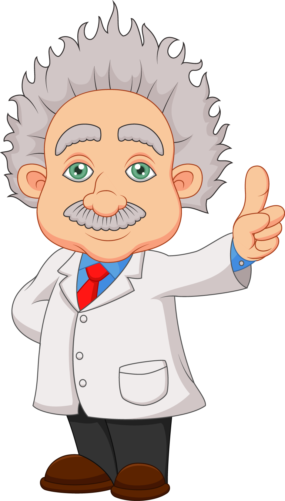 Cartoon scientist stock clip. Einstein clipart illustration