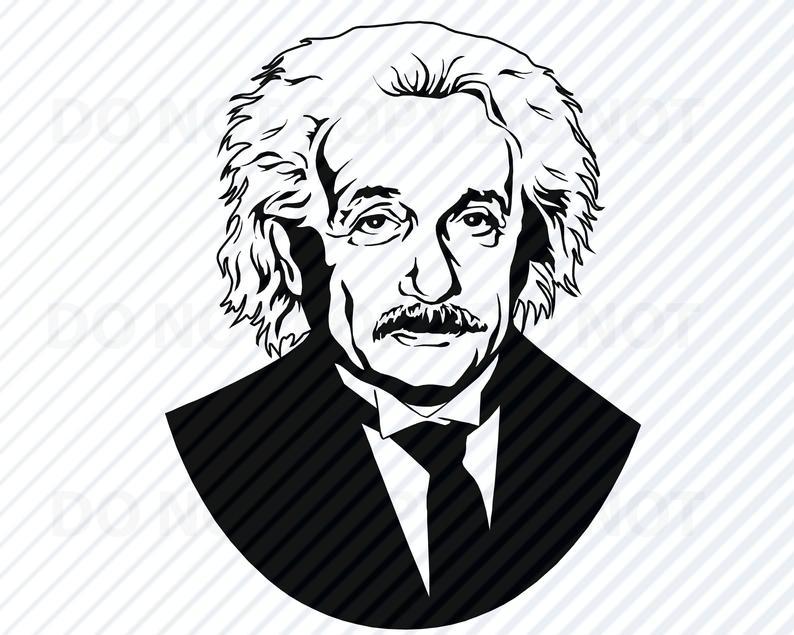 Einstein clipart line albert einstein. Face svg files for