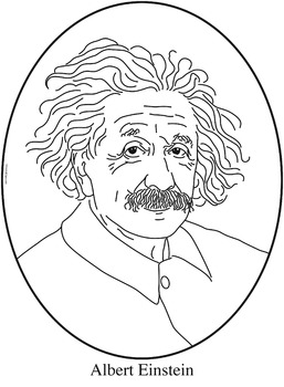 Einstein clipart line drawing. Albert clip art coloring
