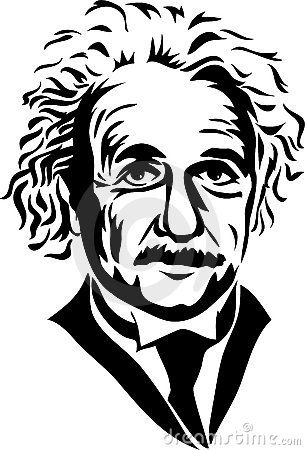 Pin by stephanie white. Einstein clipart line drawing
