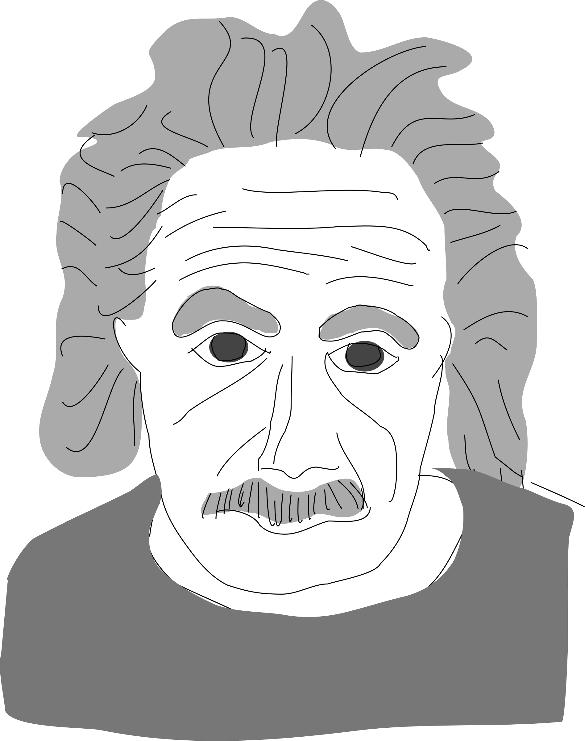 Icons png free and. Einstein clipart outline