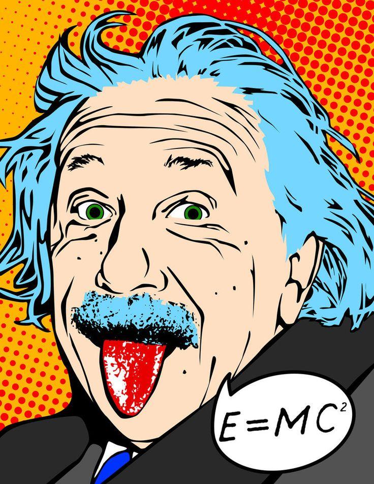 Download pop art albert. Einstein clipart painting