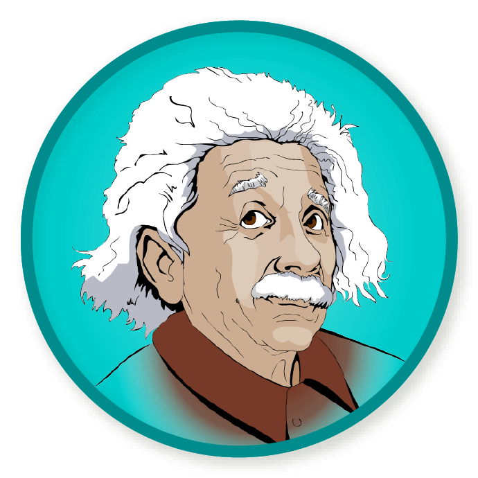 Wittywe win a badge. Einstein clipart science quiz