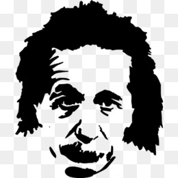 Einstein clipart silhouette. Download for free png