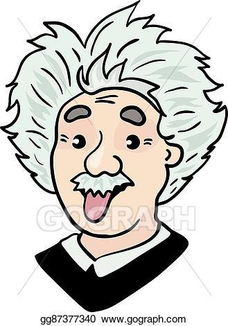 Einstein clipart sketch. Vector art albert portrait