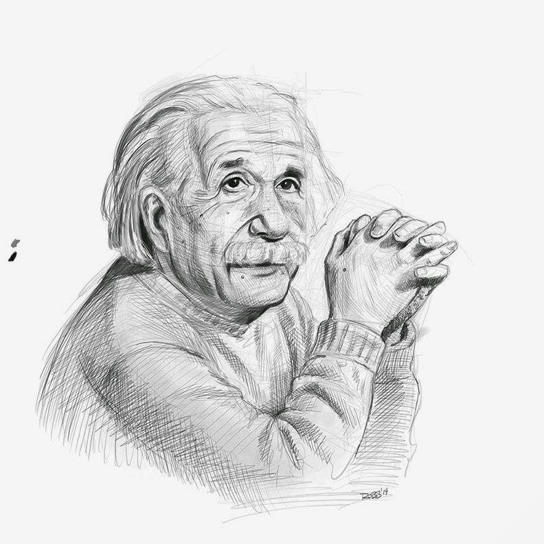Download pencil of albert. Einstein clipart sketch