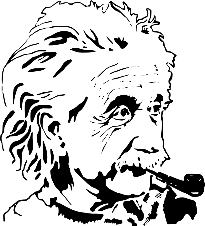 Einstein clipart stencil. Albert illustration transparent png