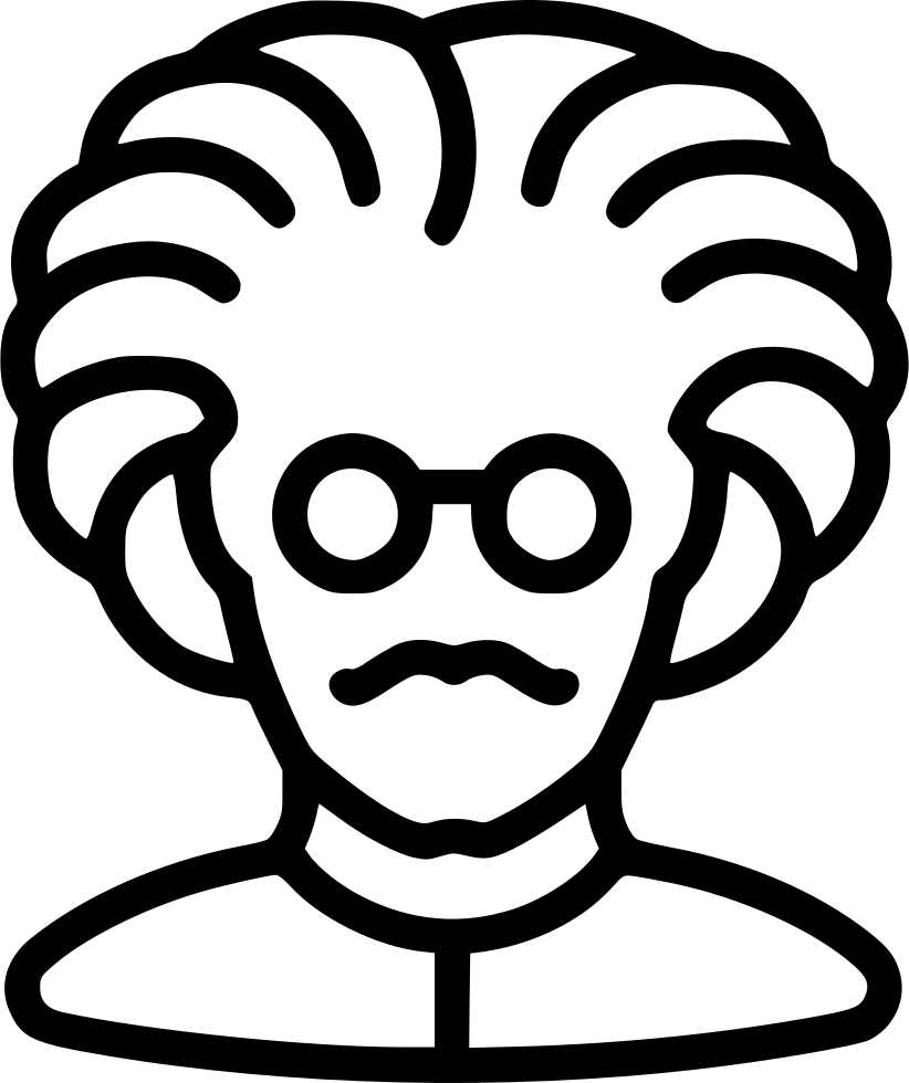 Einstein clipart svg. Professor mad glasses doctor