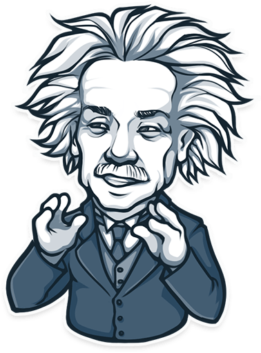 Einstein clipart thinking. Albert sticker transparent png