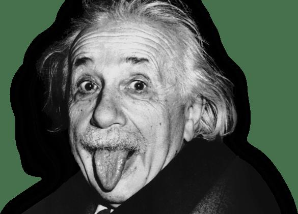 Albert stickpng free transparent. Einstein clipart tongue