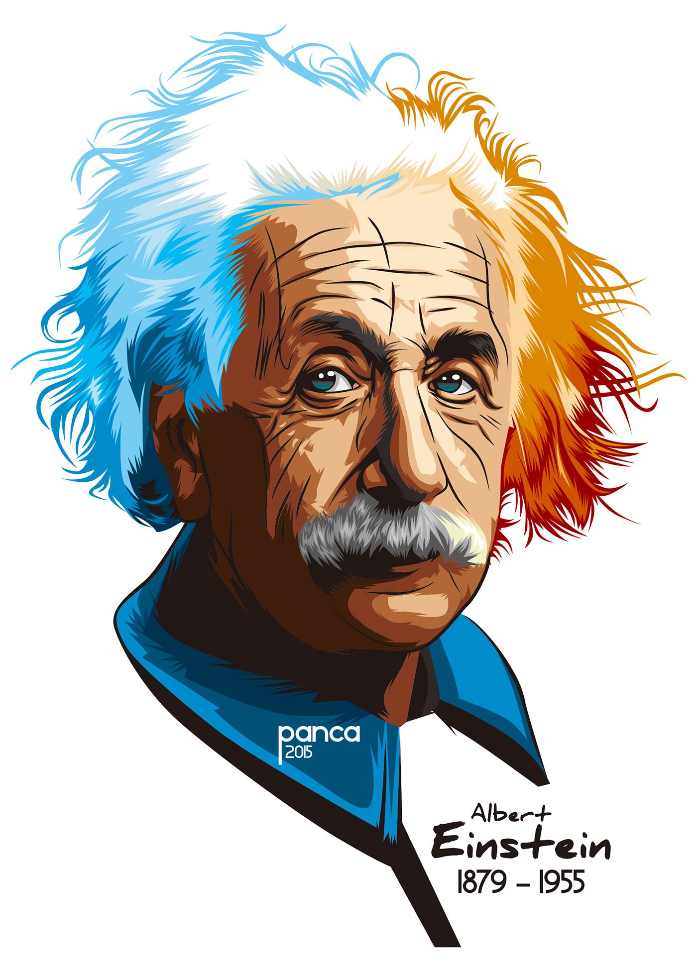 Potrait albert on behance. Einstein clipart vector