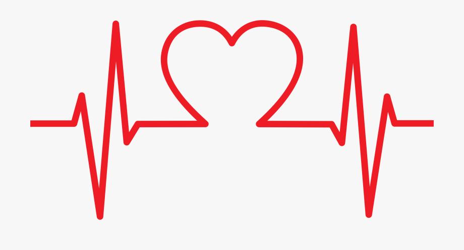 Heart shaped png transparent. Ekg clipart