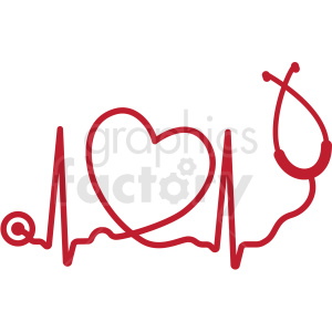 With heart svg cut. Heartbeat clipart stethoscope