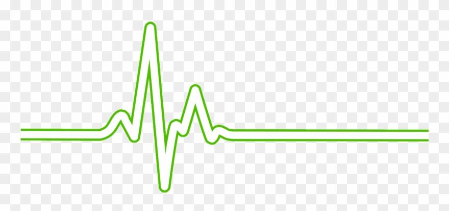 Heart rate bpm ecg. Heartbeat clipart green