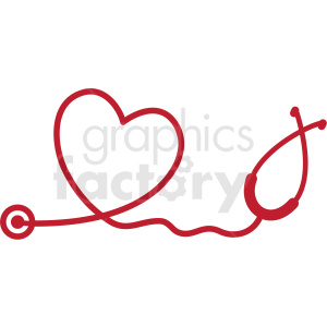 Heartbeat clipart ekg. Set heart stethoscope svg