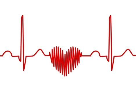 Ekg clipart heart shaped. Science source ecg trace