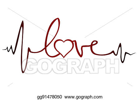 Ekg clipart love line. Stock illustration of