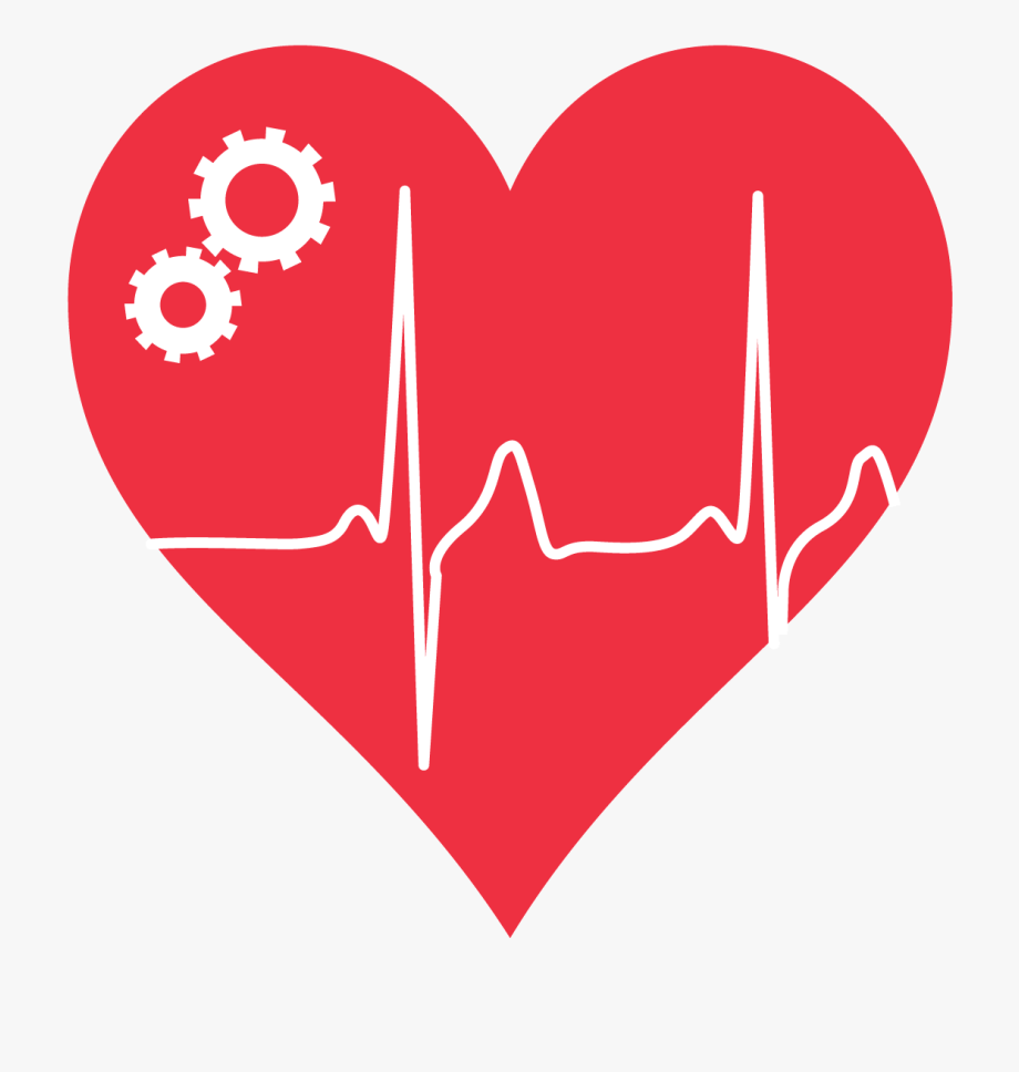 Ekg clipart love line. Ecg mhrv heart with