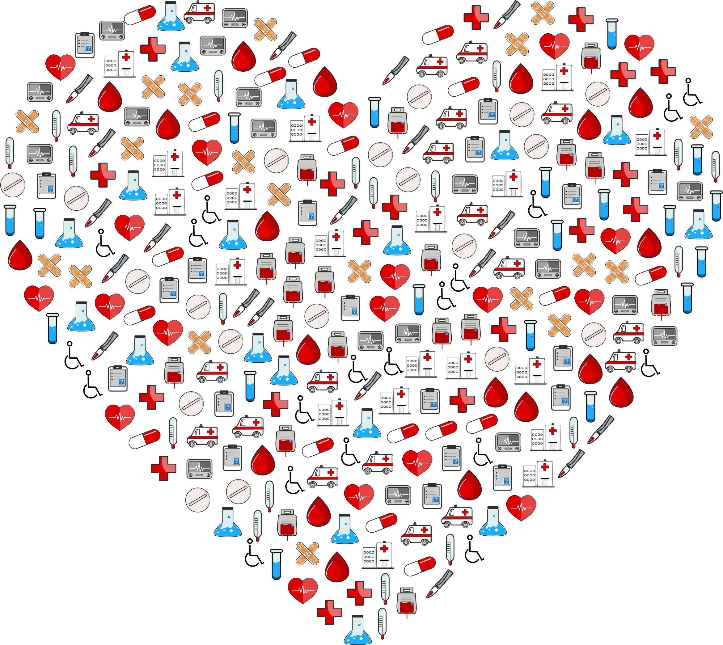 Heartbeat clipart medical. Icons heart big image