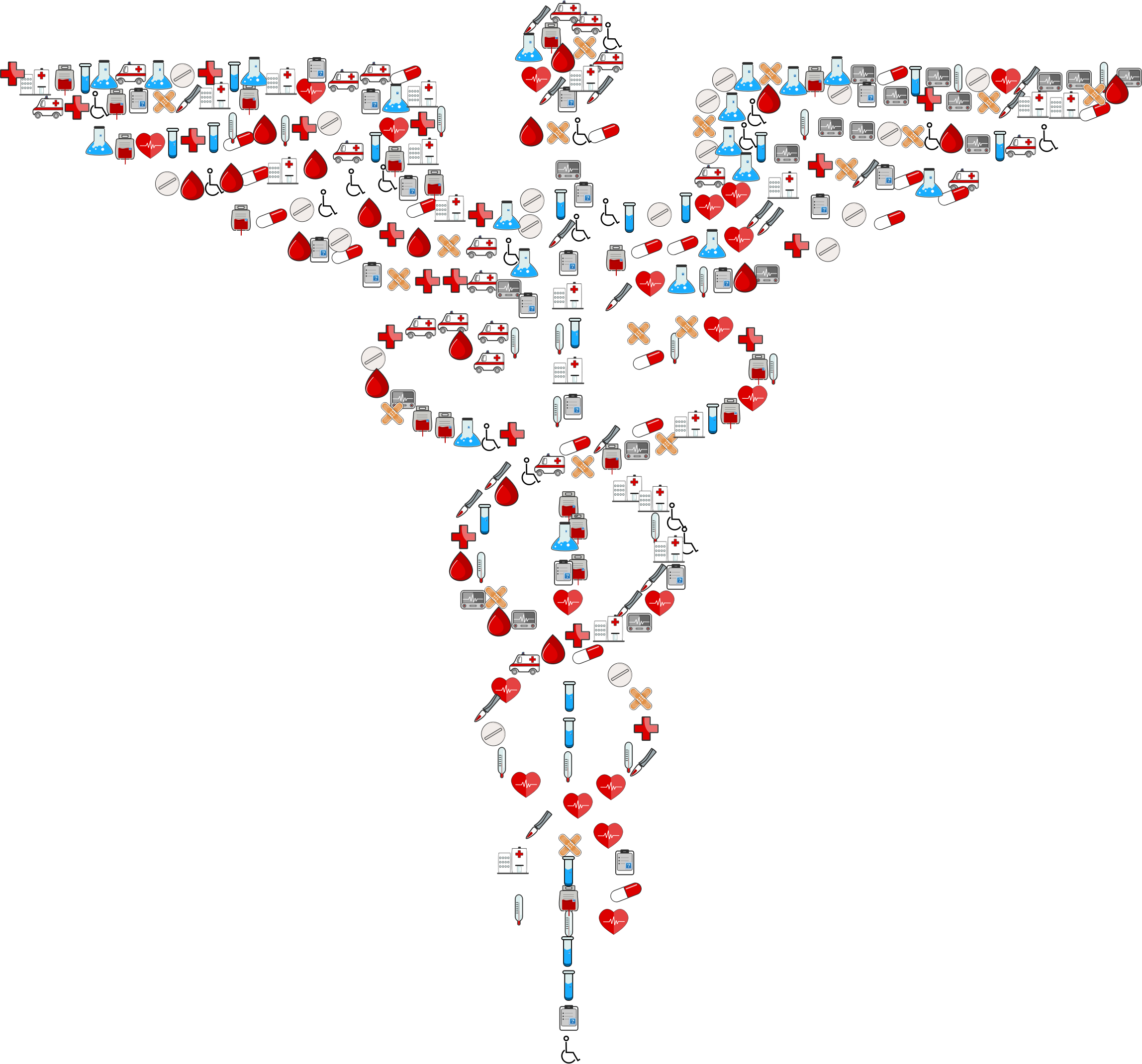 Medical icons caduceus big. Heartbeat clipart nurse