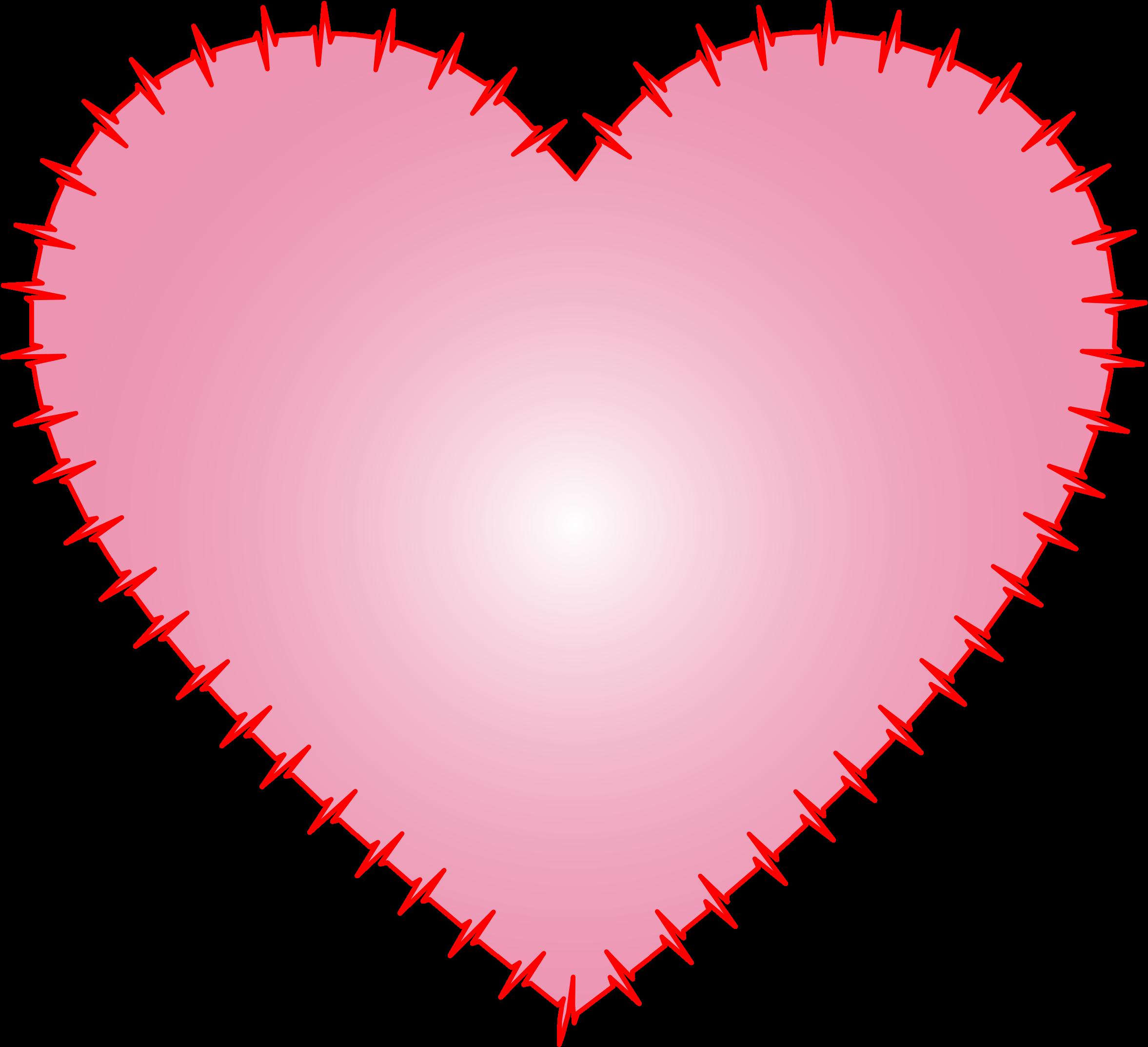 Heart clipart pulse. Ekg rhythm pink big
