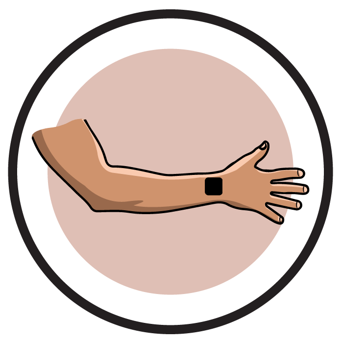 Trust clipart hand check. Electrode pad placement by